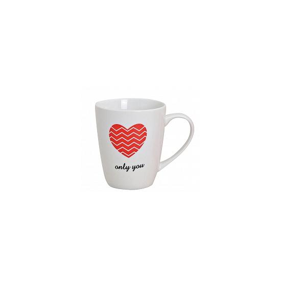 Valentijn Witte beker met rood hart