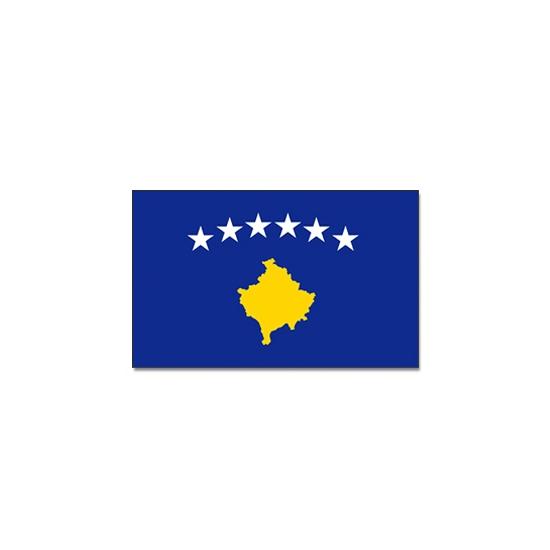 Vlag Kosovo 90 x 150 cm (bron: Feestartikelen-winkel)