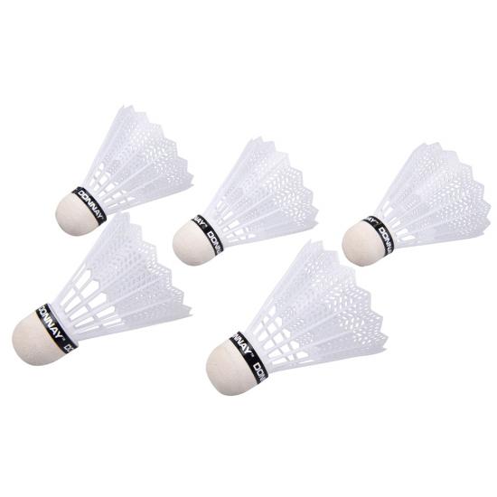 Witte badminton shuttles 5dl