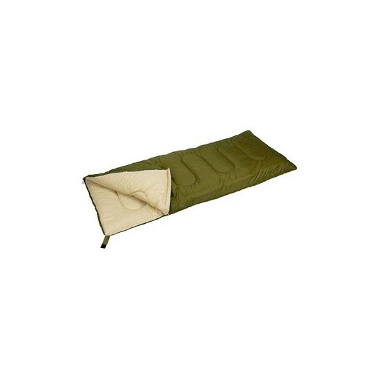 Zomer slaapzak legergroen/zand 210 x 85 cm