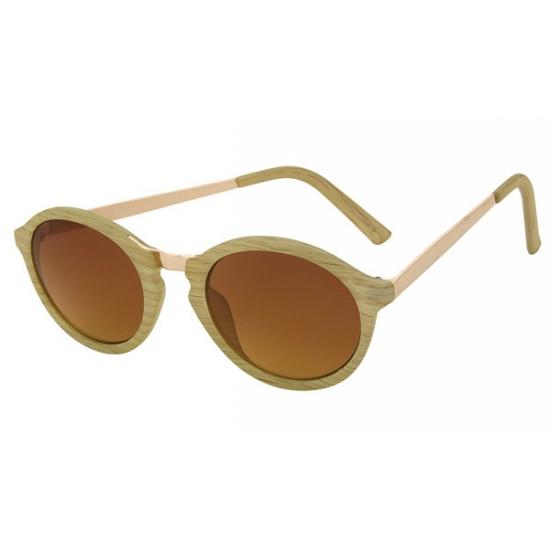 Zonnebril met ronde glazen beige