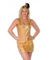 Toppers Goud holografisch jurkje voor dames