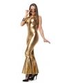 Toppers Gouden disco catsuit voor dames