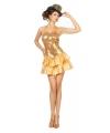 Gouden halter jurk met pailletten voor dames