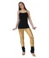 Toppers Gouden legging met puntige gaten