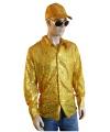 Toppers Gouden pailletten blouse heren