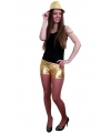 Strakke hotpants metallic goud