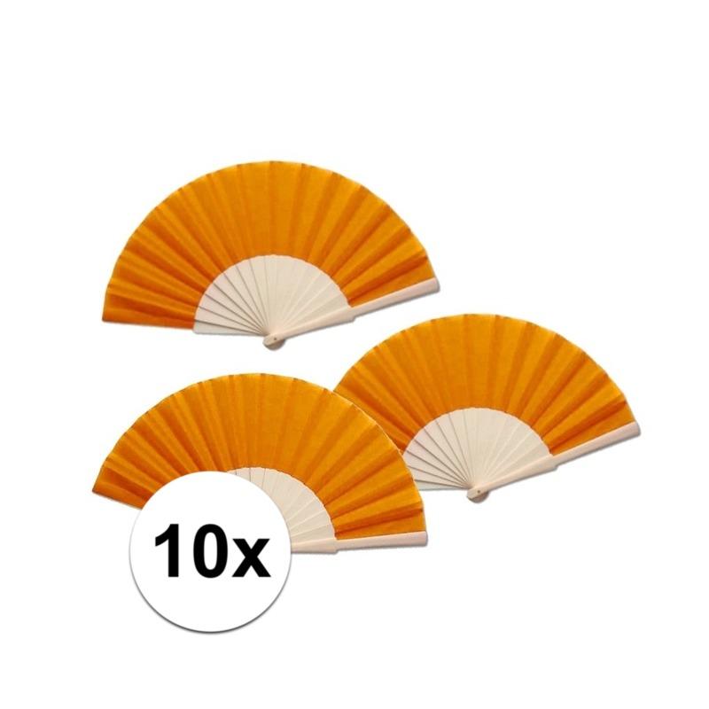 10 stuks zomerse Spaanse waaiers oranje