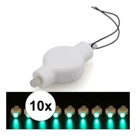 10x Lampion LED lampje groen