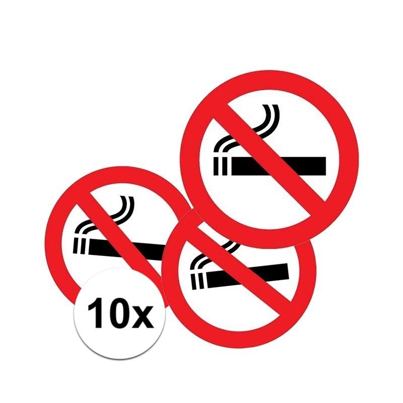 10x Sticker verboden te roken