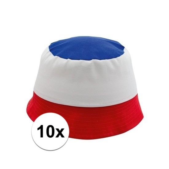 10x Supporters zonnehoedjes Frankrijk