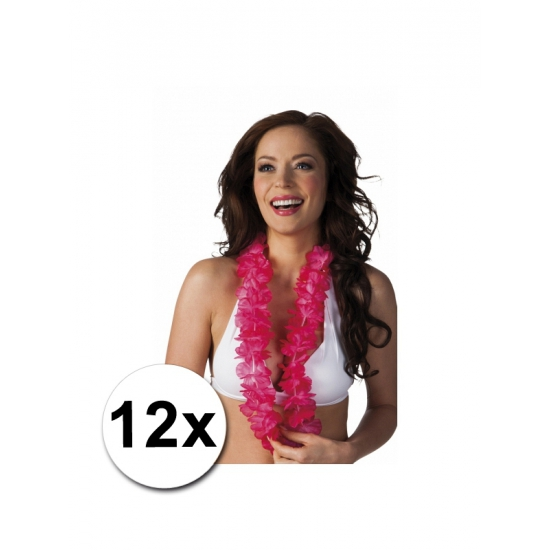 12 roze Hawaii slingers