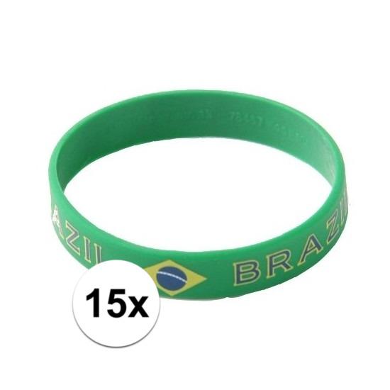 15x Polsbandje Brazilie