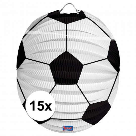 15x Voetbal lampionnen 22 cm