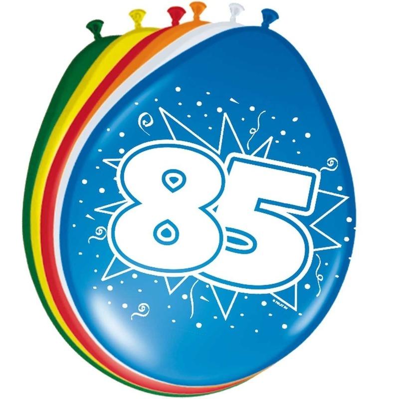 16x stuks Ballonnen versiering 85 jaar