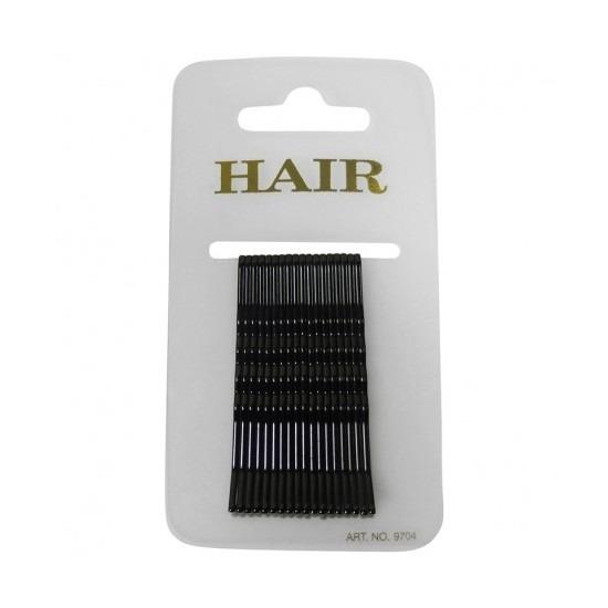 18 zwarte haar schuifspeldjes 6 cm