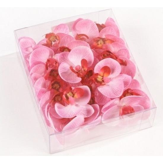 18x Roze strooi vlinderorchideeblaadjes decoratie