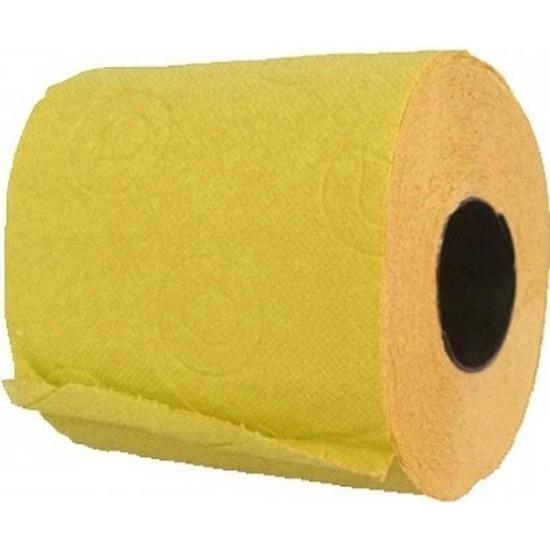 1x Geel toiletpapier rol