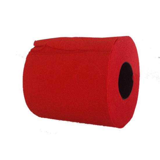 1x Rood toiletpapier rol