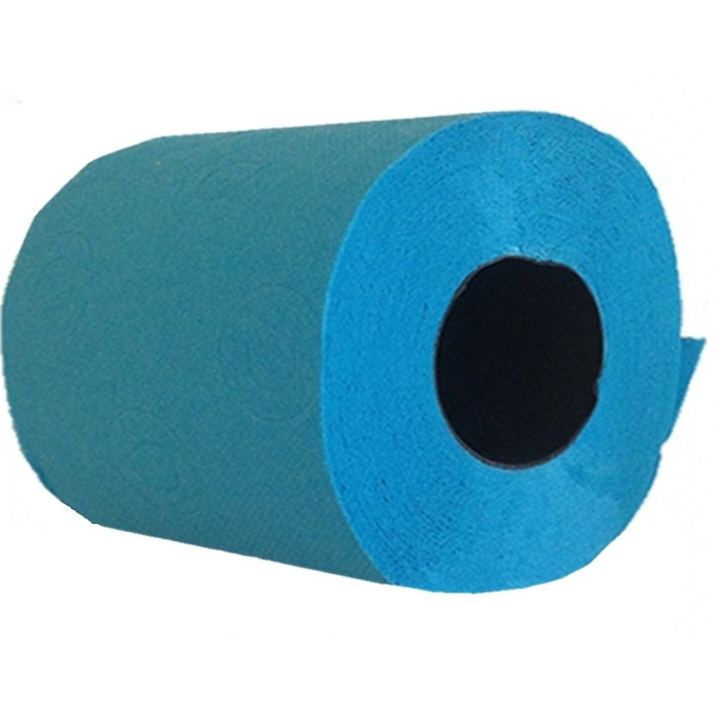 1x Turquoise toiletpapier rol