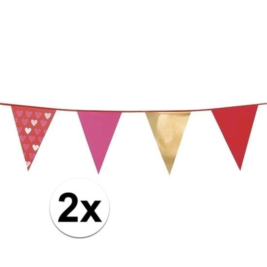 2 stuks Love vlaggenlijn 6 meter