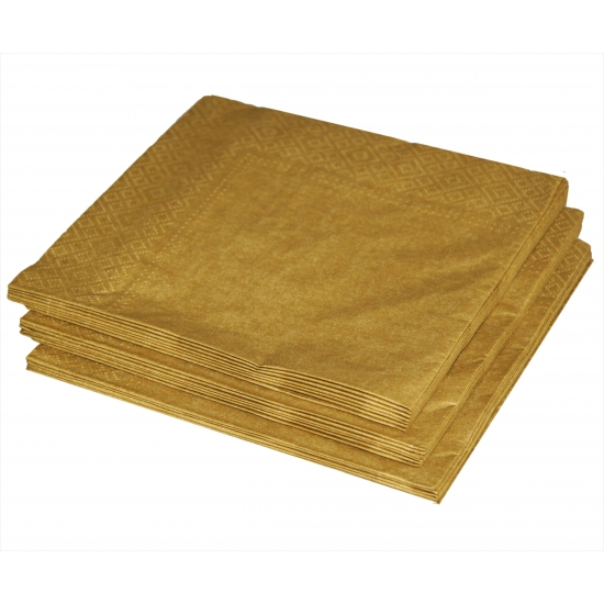 20 gouden servetten 33 x 33 cm