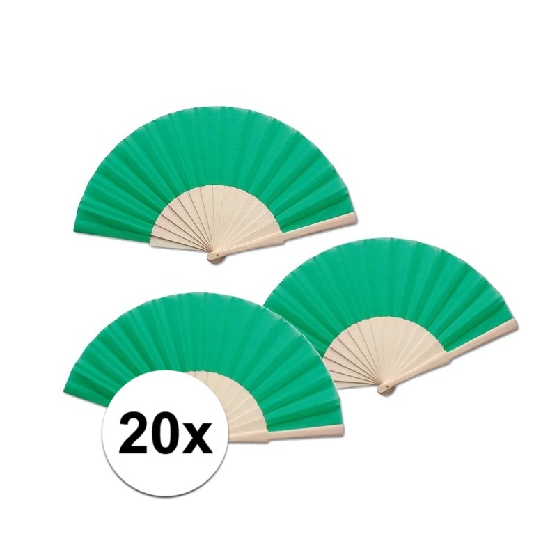 20 stuks Zomerse Spaanse waaier groen