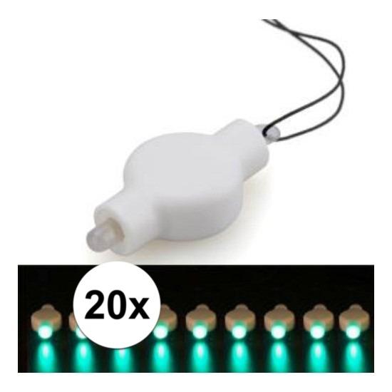 20x Lampion LED lampje groen