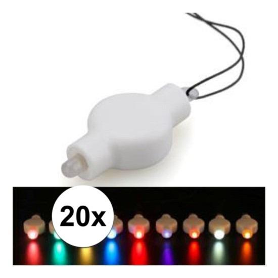 20x Lampion LED lampje multicolor