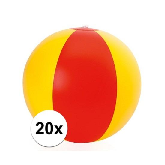 20x Opblaasbare Spanje strandbal