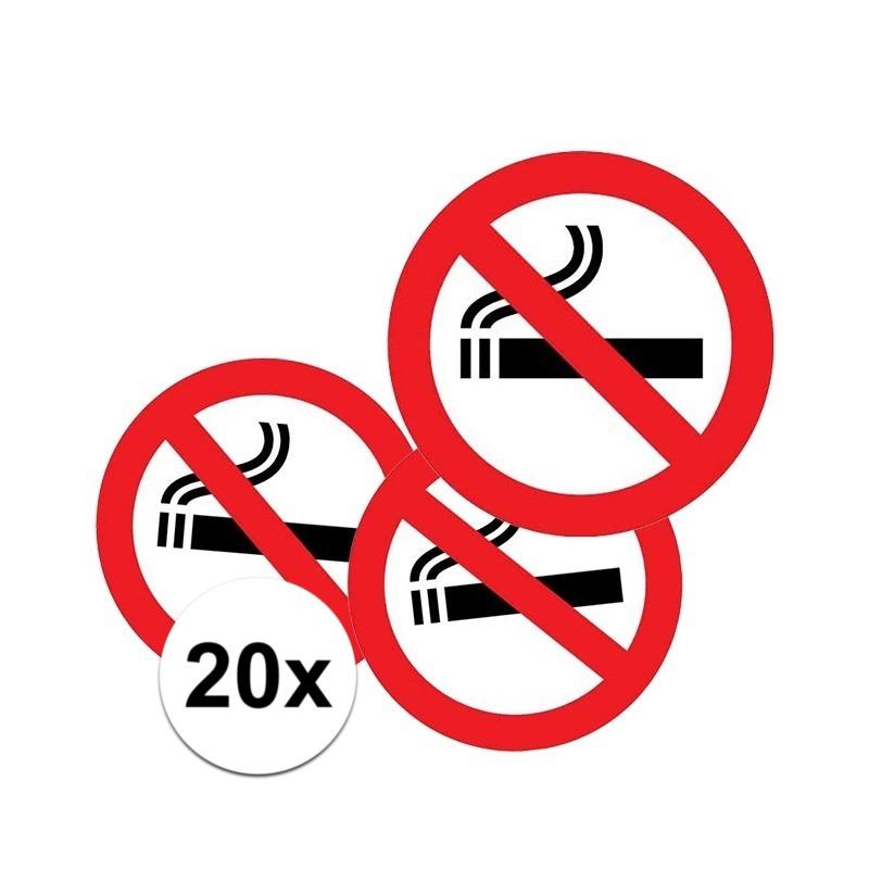 20x Sticker verboden te roken