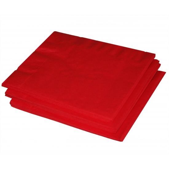 20x stuks rode servetten 33 x 33 cm