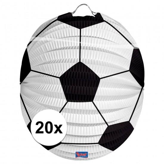 20x Voetbal lampionnen 22 cm