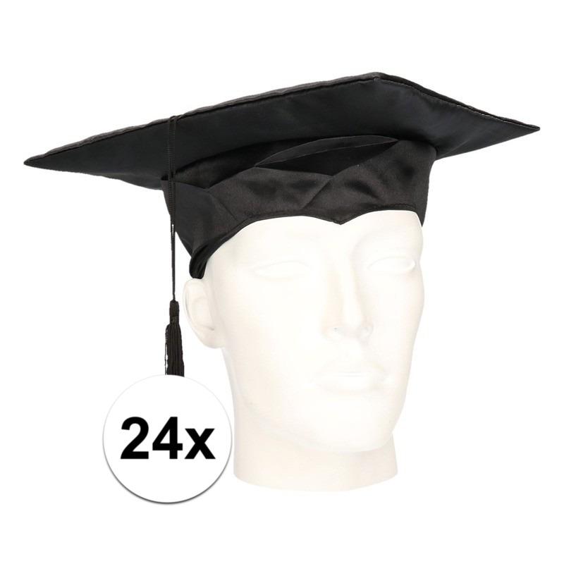24x geslaagd hoedje - afstudeer baret voor volwassenen