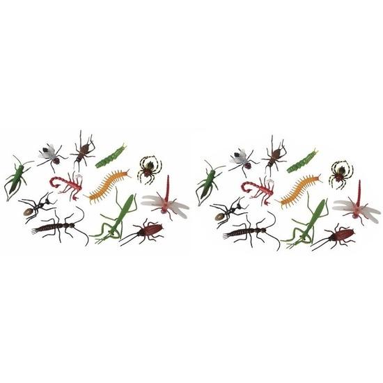 24x Plastic fop beestjes insecten