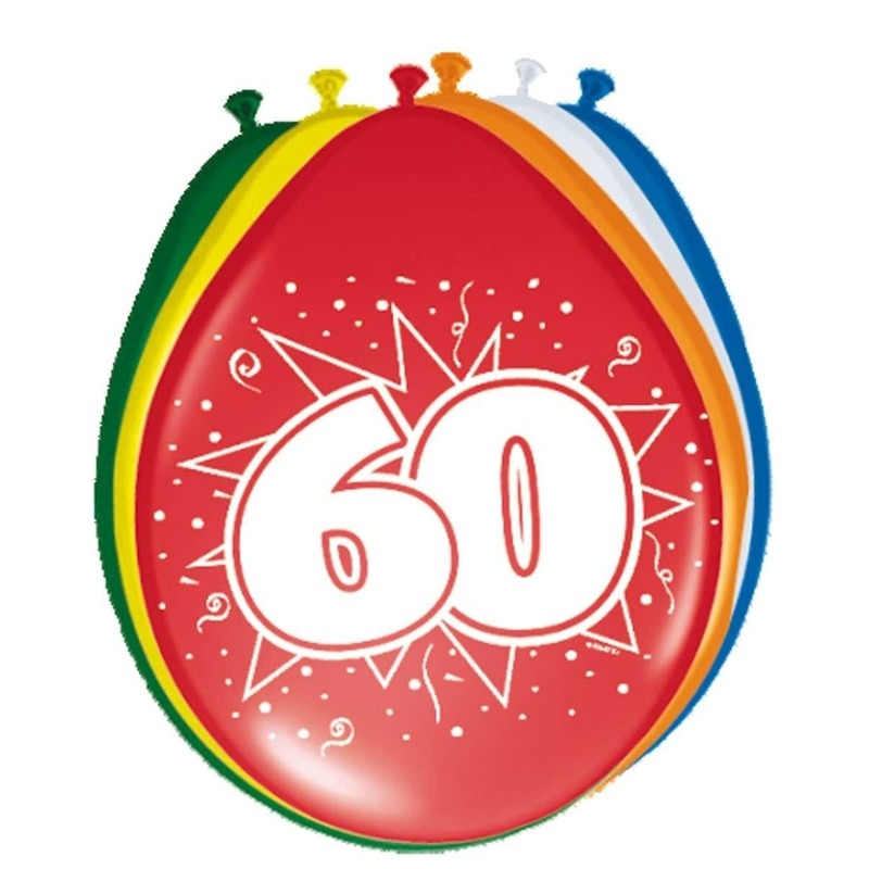 24x stuks Ballonnen versiering 60 jaar