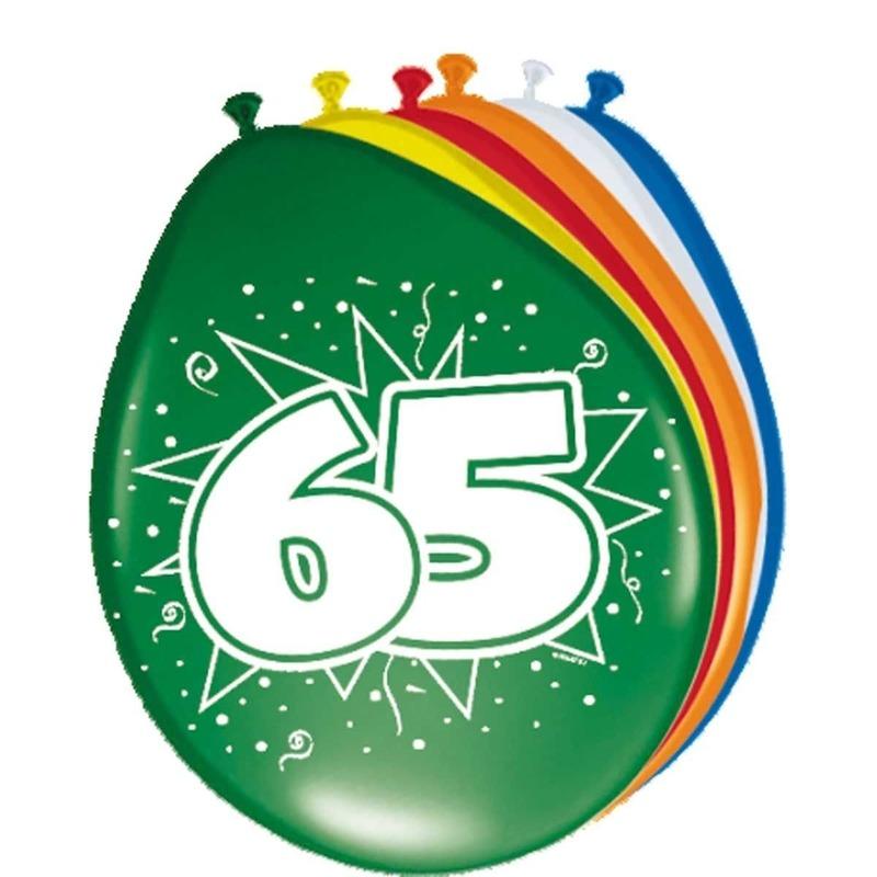24x stuks Ballonnen versiering 65 jaar