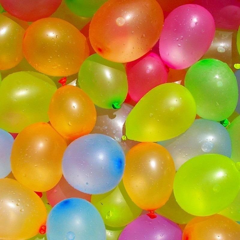 24x Waterballonnen/waterbommen setje met pomp en hulpstuk