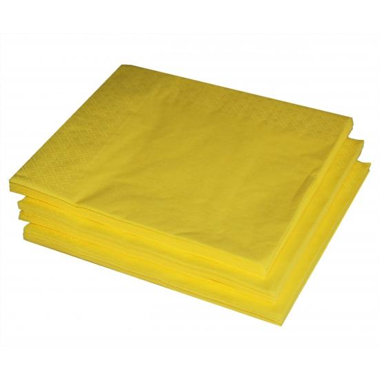 25 gele servetten 33 x 33 cm