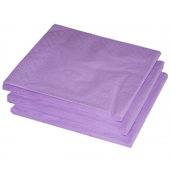 25 lila paarse servetten 33 x 33 cm