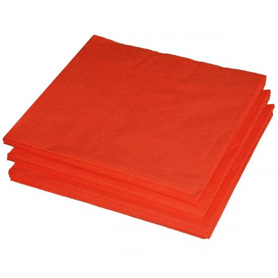 25 oranje servetten 33 x 33 cm