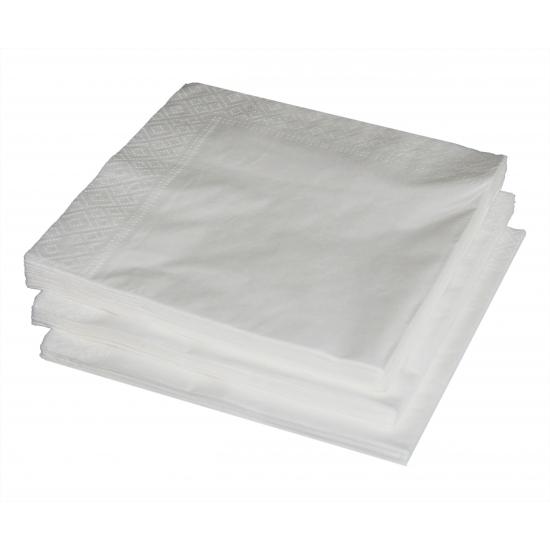 25 witte servetten 33 x 33 cm