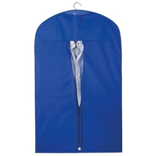 2x Blauwe kledinghoezen 100 x 60 cm