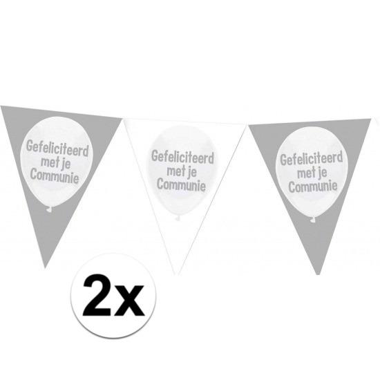 2x Communie vlaggenlijnen 10 meter
