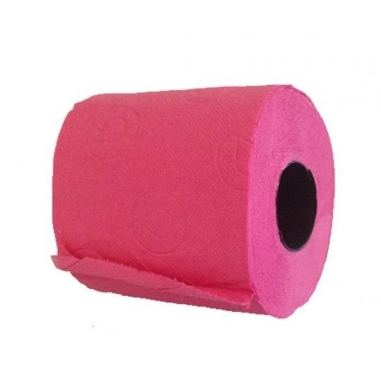2x Fuchsia roze toiletpapier