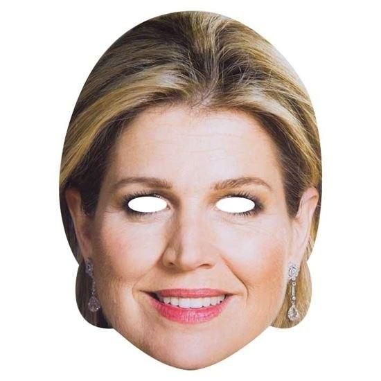 2x Koningin Maxima masker voor volwassenen