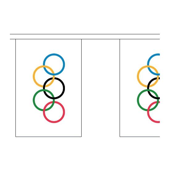 2x Olympische vlaggenlijnen 9 meter