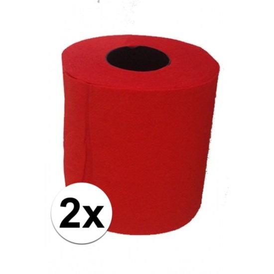 2x Rood toiletpapier