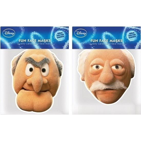 2x Statler en Waldorf verkleed maskers The Muppet Show