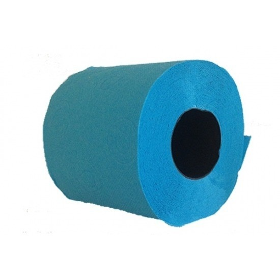 2x Turquoise blauw toiletpapier